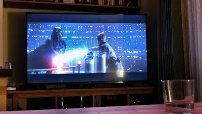 El duelo entre Luke y Darth Vader en El Imperio Contraataca, segundos antes de....