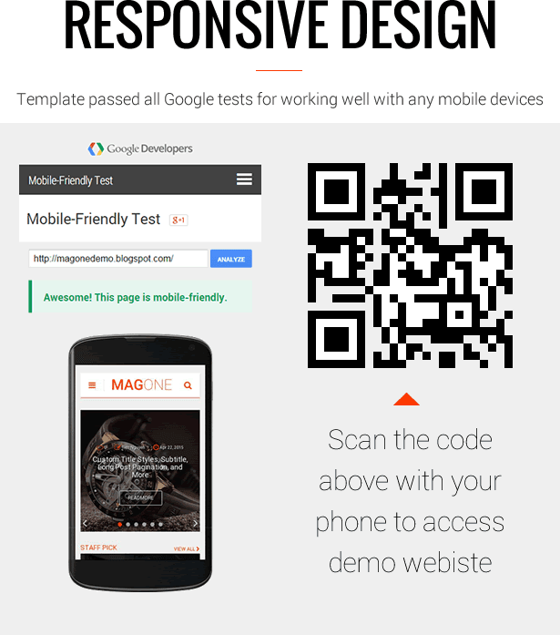 Responsive Mobile Friendly - MagOne - Magazine Blogger Template