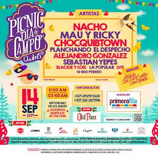 DÍA DE CAMPO Andres Picnic 2019 con Nacho, Mau y Ricky y más