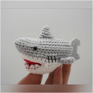 patron amigurumi Tiburón canal crochet