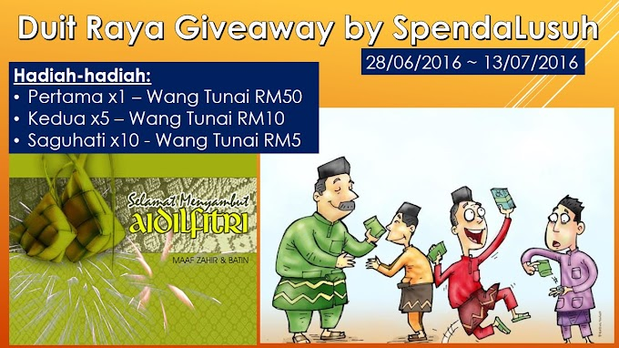 Duit Raya Giveaway by SpendaLusuh
