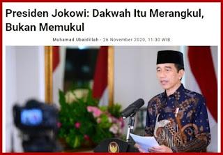 Jokowi Sebut Dakwah Bukan Memukul, Aktivis: Presiden Juga Harus Membina, Bukan Mengadu Domba