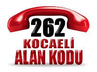 0262 Kocaeli telefon alan kodu