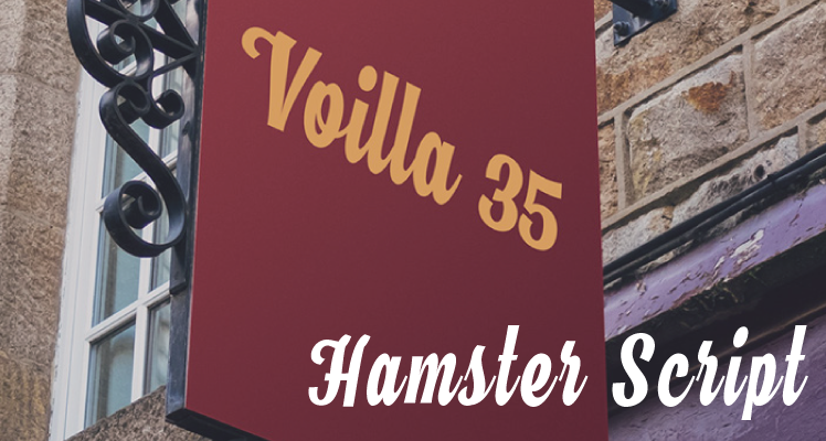Hamster script free font preview