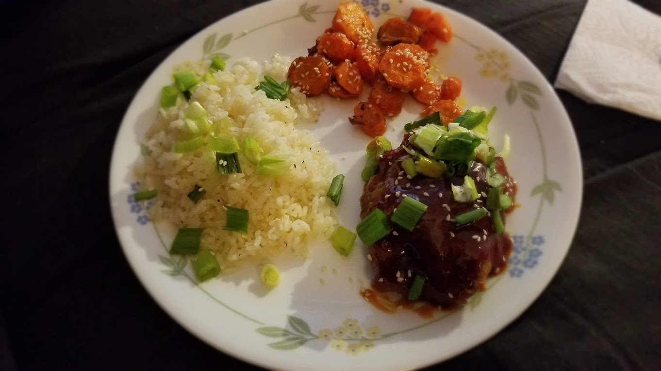 Ponzu pork meatloaf, from EveryPlate