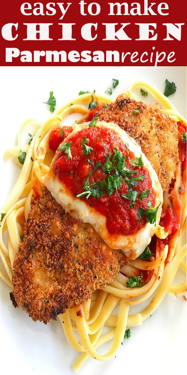 Easy Chicken Parmesan #Easy #Chicken #Parmesan #EasyChickenParmesan