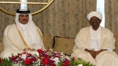 أمير قطر مع البشير
