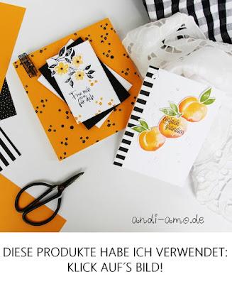Materialliste Karte & Geschenke mit Produktpaket Süße Pfirsiche