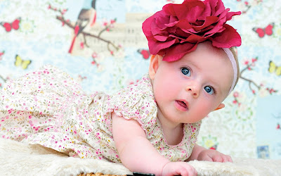 good night images with cute baby girl