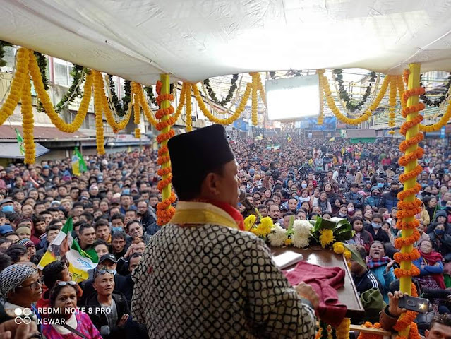 Gorkha leader Bimal Gurung, TMC's new ally, holds first rally in Darjeeling
