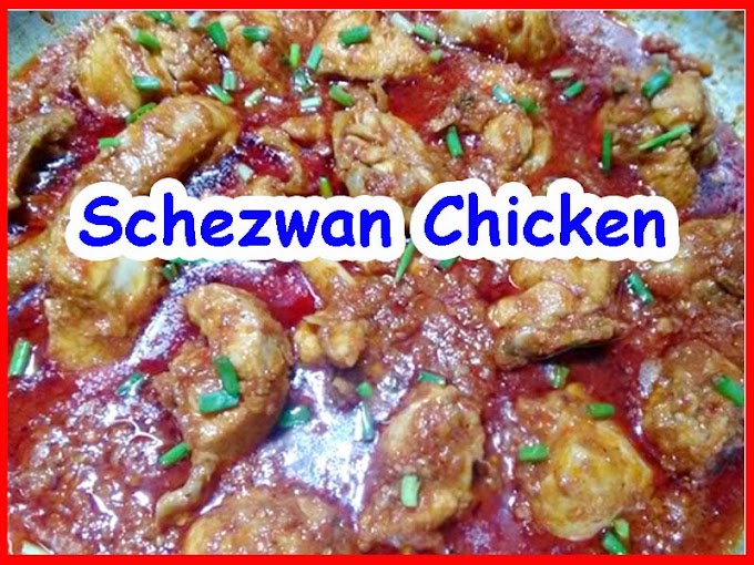Full Spicy Schezwan Style Chinese Chicken Recipe
