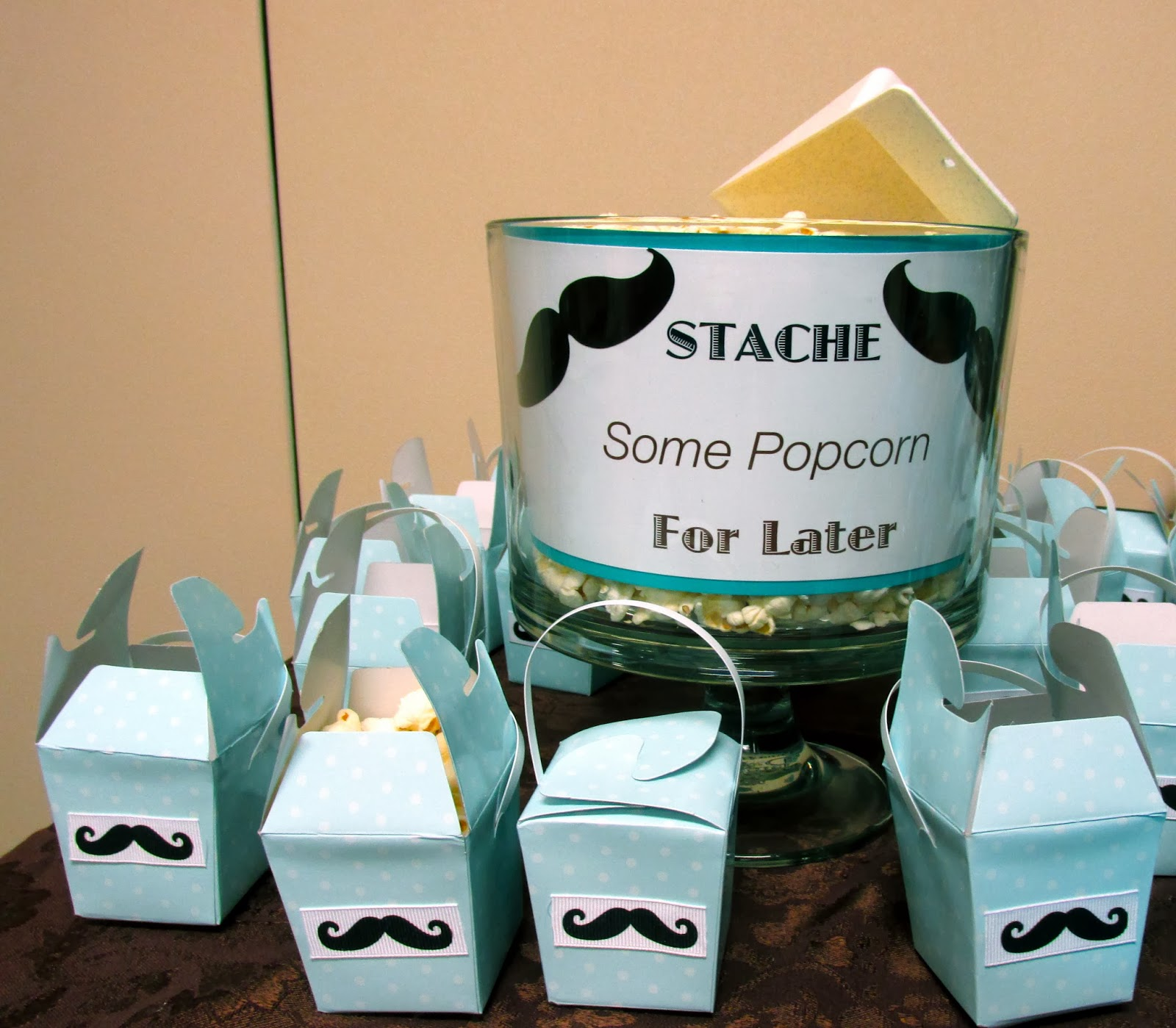 """Baby Shower Mustache Theme: FUN """"A Little Man Is On The Way!"""" Baby Boy"""