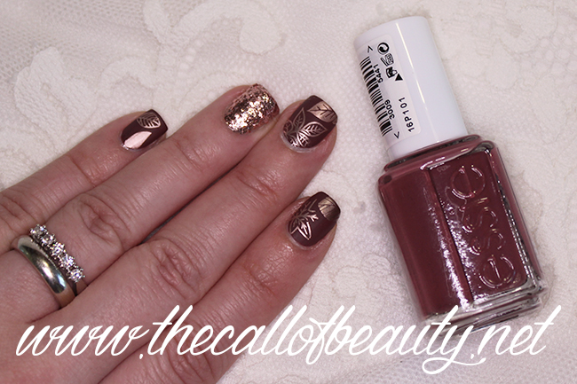 Rose Gold Fall Nail Art