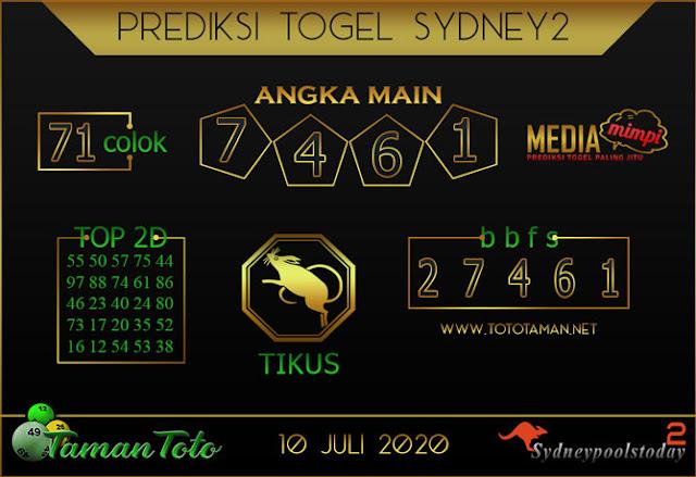 Prediksi Togel SYDNEY 2 TAMAN TOTO 10 JULI 2020