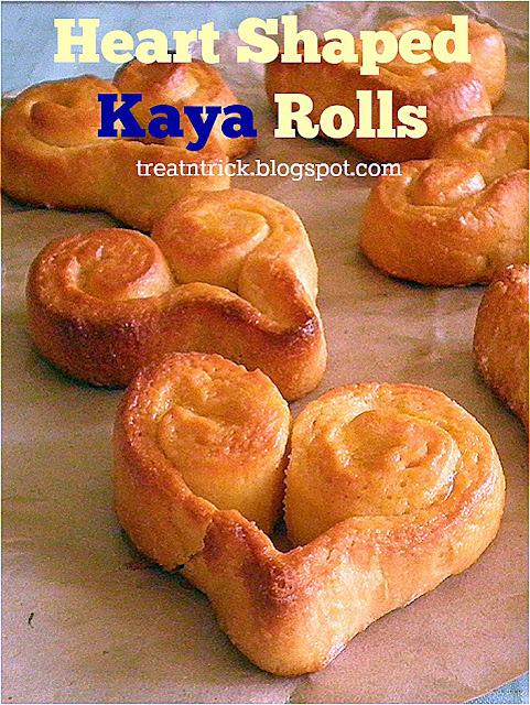 Heart Shaped Kaya Rolls Recipe @ treatntrick.blogspot.com