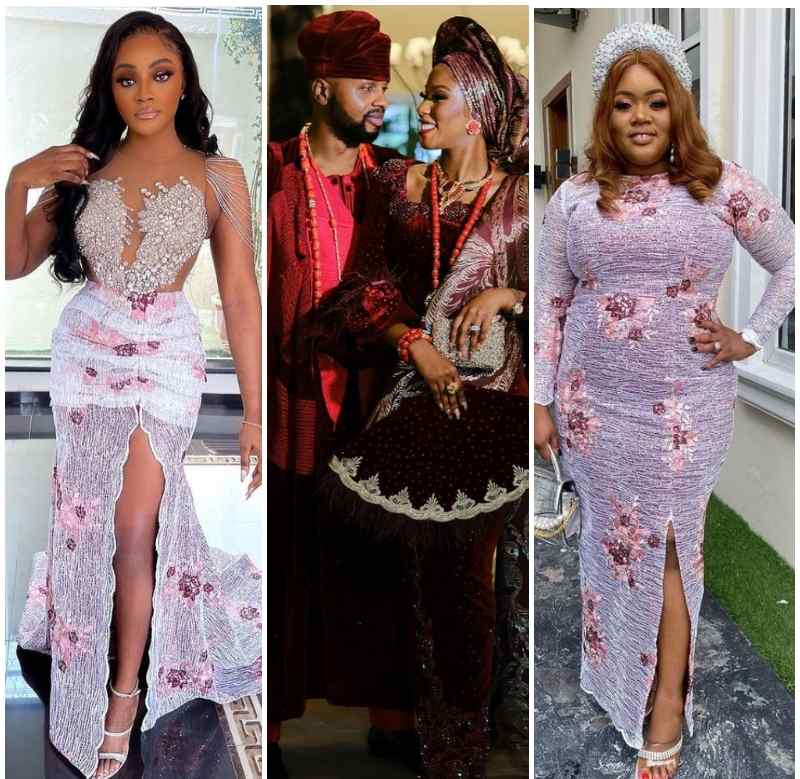 Celebrities native styles for Adebola and Kehinde Wedding