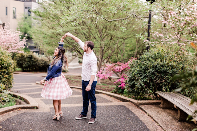 Meridian Hill Park DC Engagement Session photographed by Heather Ryan Photography
