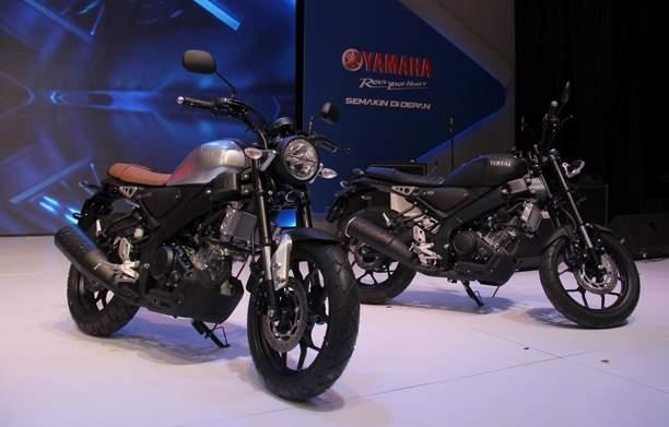 Dua pilihan warna yamaha XSr 155 Indonesia Hitam dan Silver