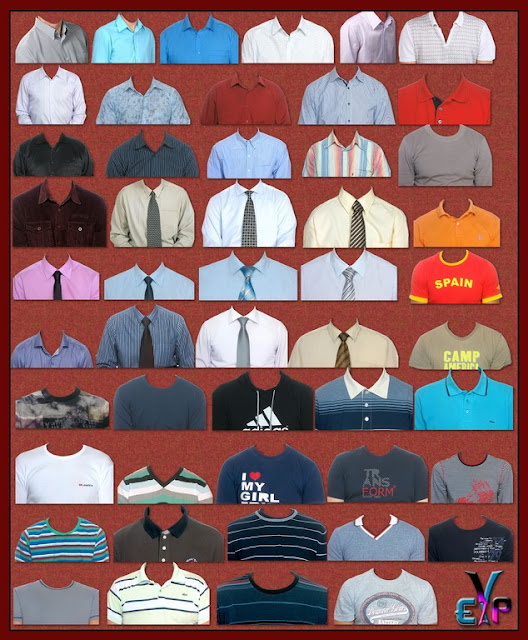 Men Casual Shirts and T-shirts PSD files collection