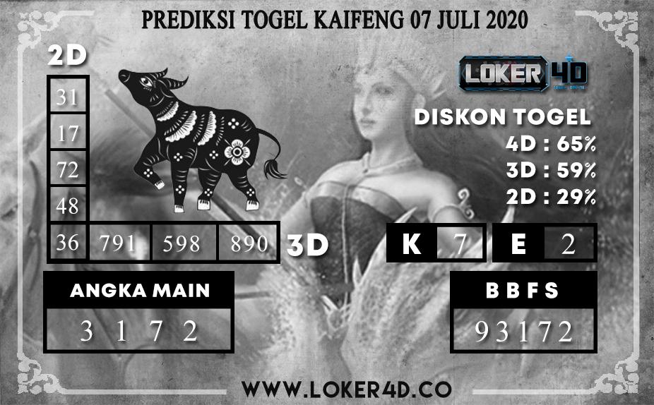 PREDIKSI TOGEL LOKER4D KAIFENG 07 JULI 2020