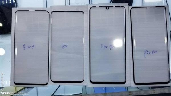 تسريب صورة الزجاج الأمامي لشاشة هاتف HUAWEI P30 PRO