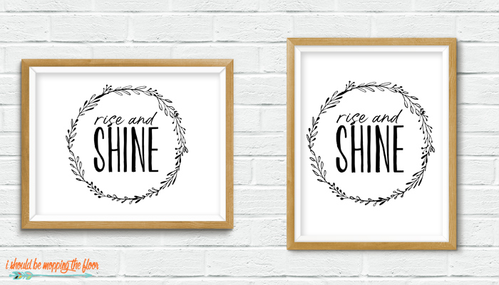 Rise and Shine Printable
