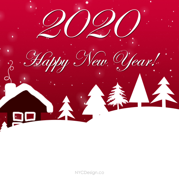 New Years Cards 2020 New York Web Design Studio, New York, NY: New Year's Card 2020
