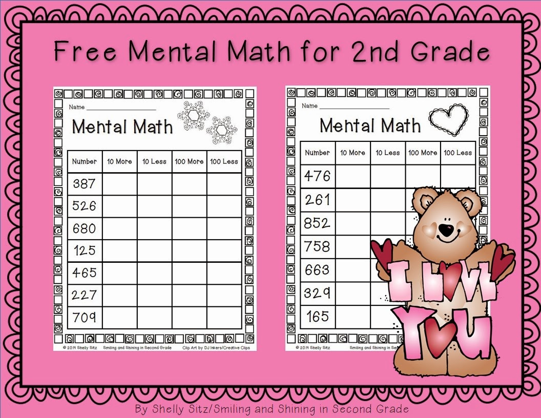 Printables Of 2nd Grade Mental Math