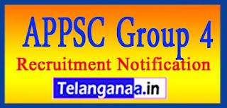 APPSC Group 4 Notification 2017 Apply