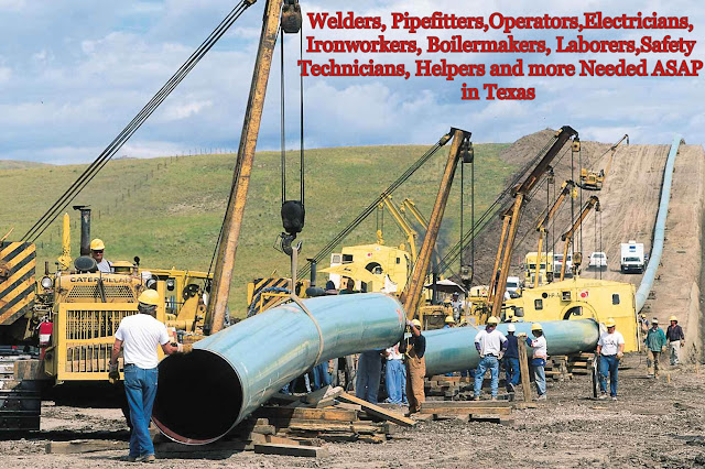 Hundreds of Welders, Operators, Electricians and more urgently Needed in TX