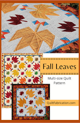 fall maple leaves in two sizes for pattern by QuiltFabrication