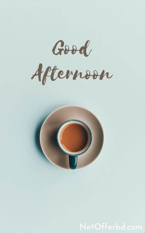 Amazing Good Afternoon wish with Coffee Cup