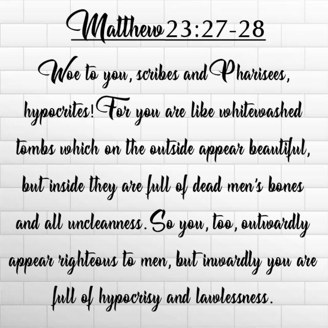 Today Bible Verse   26-08-20   Matthew 23:27-32