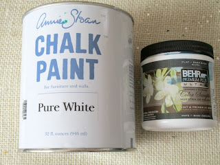 Chalk paint and Behr sample