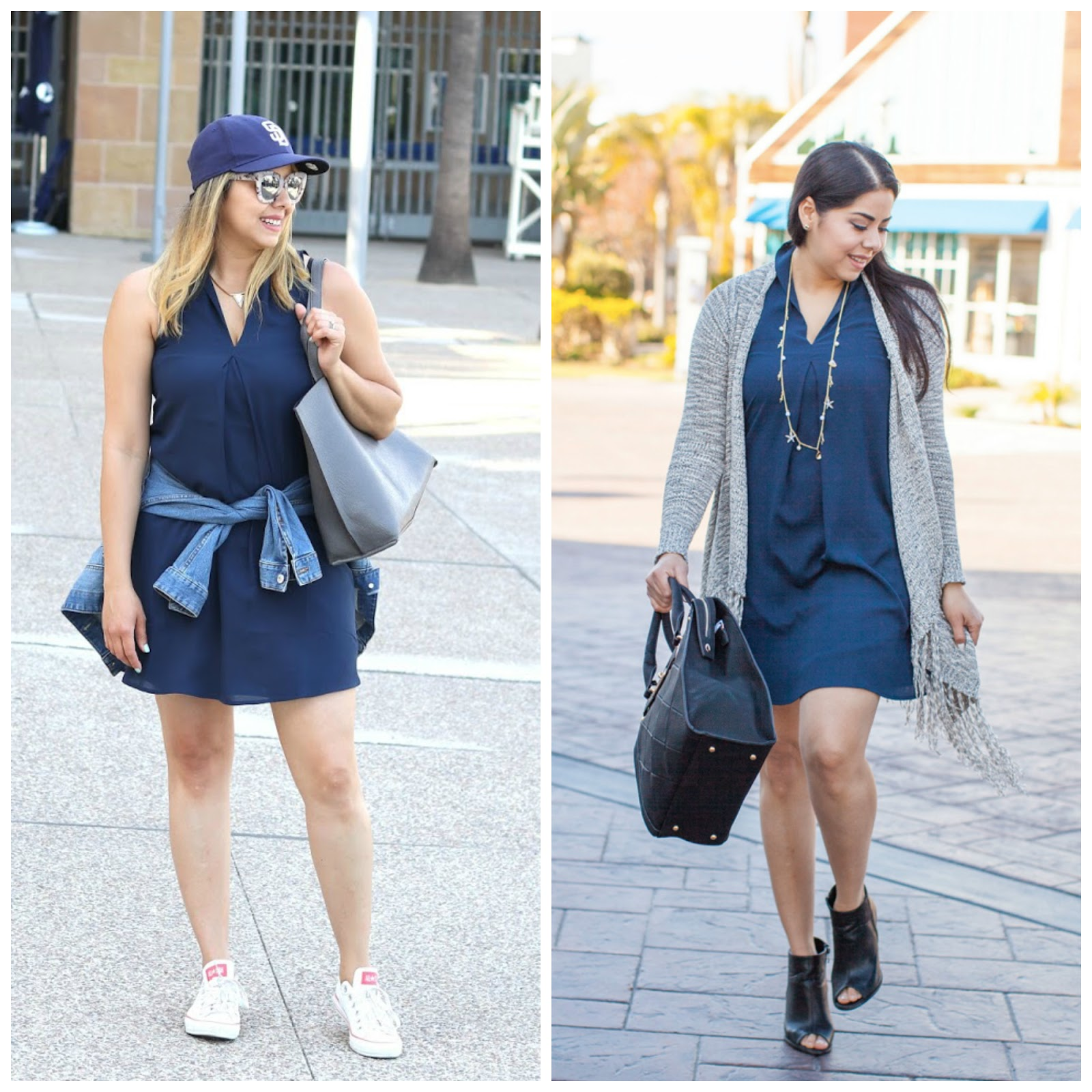 how to go from casual to dressy, one dress from casual to dressy, one dress from day to night, how to wear converse, latina fashion blogger, sdstylebloggers