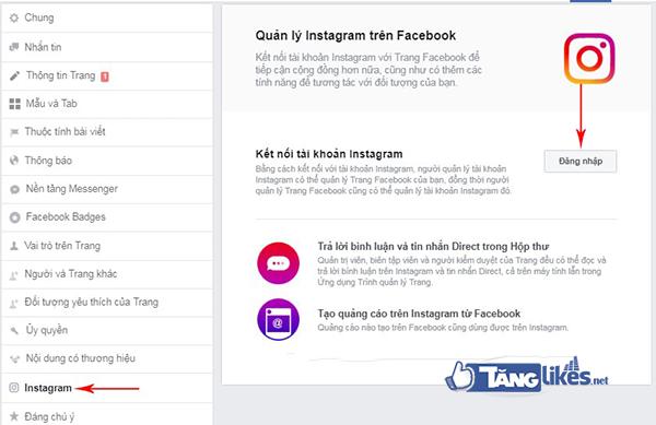 lien ket fanpage & instagram 1
