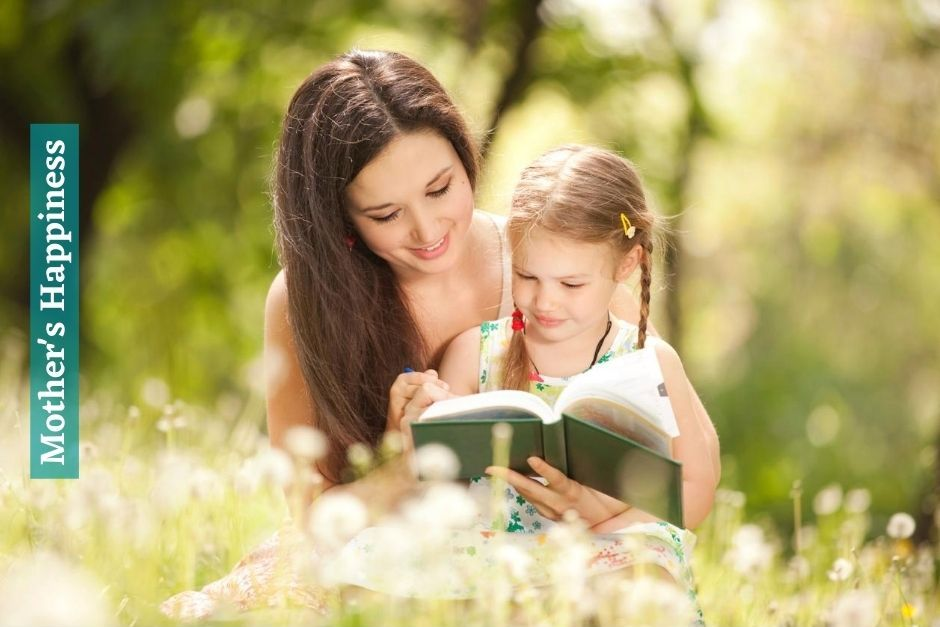 Cute Daughter and Mother Reading Book HD Wallpaper