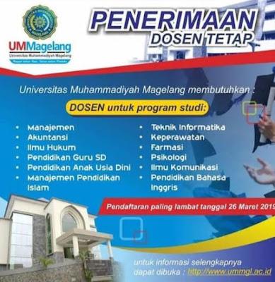 Loker Dosen Bahasa Inggris UM Magelang