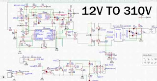 12V to 310V Inverter Converter