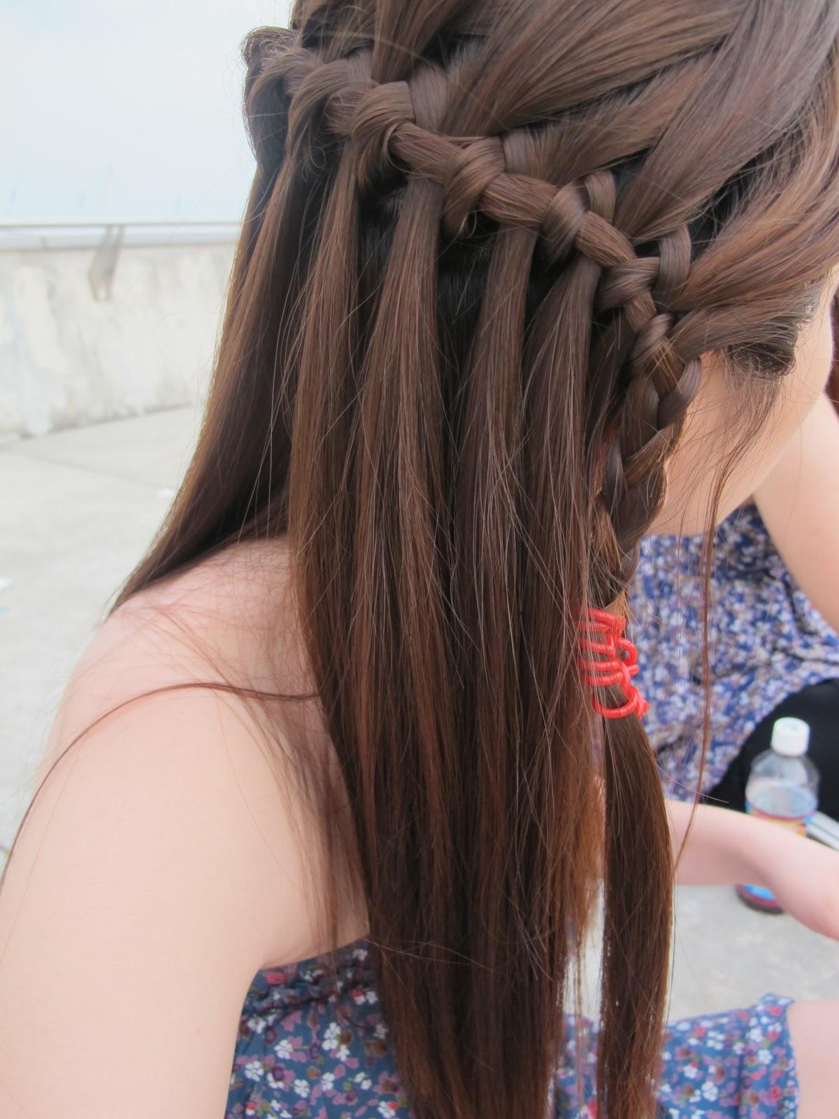 Hair And Beyond Waterfall Braid