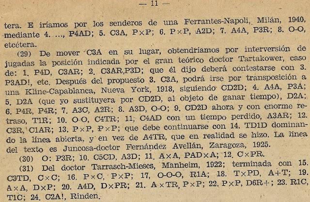 Partida de ajedrez Tarrasch - Mieses, Mannheim 1922