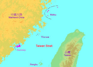 areas near Taiwan