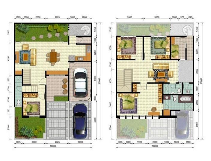 denah rumah minimalis tipe 90 yang terbaru