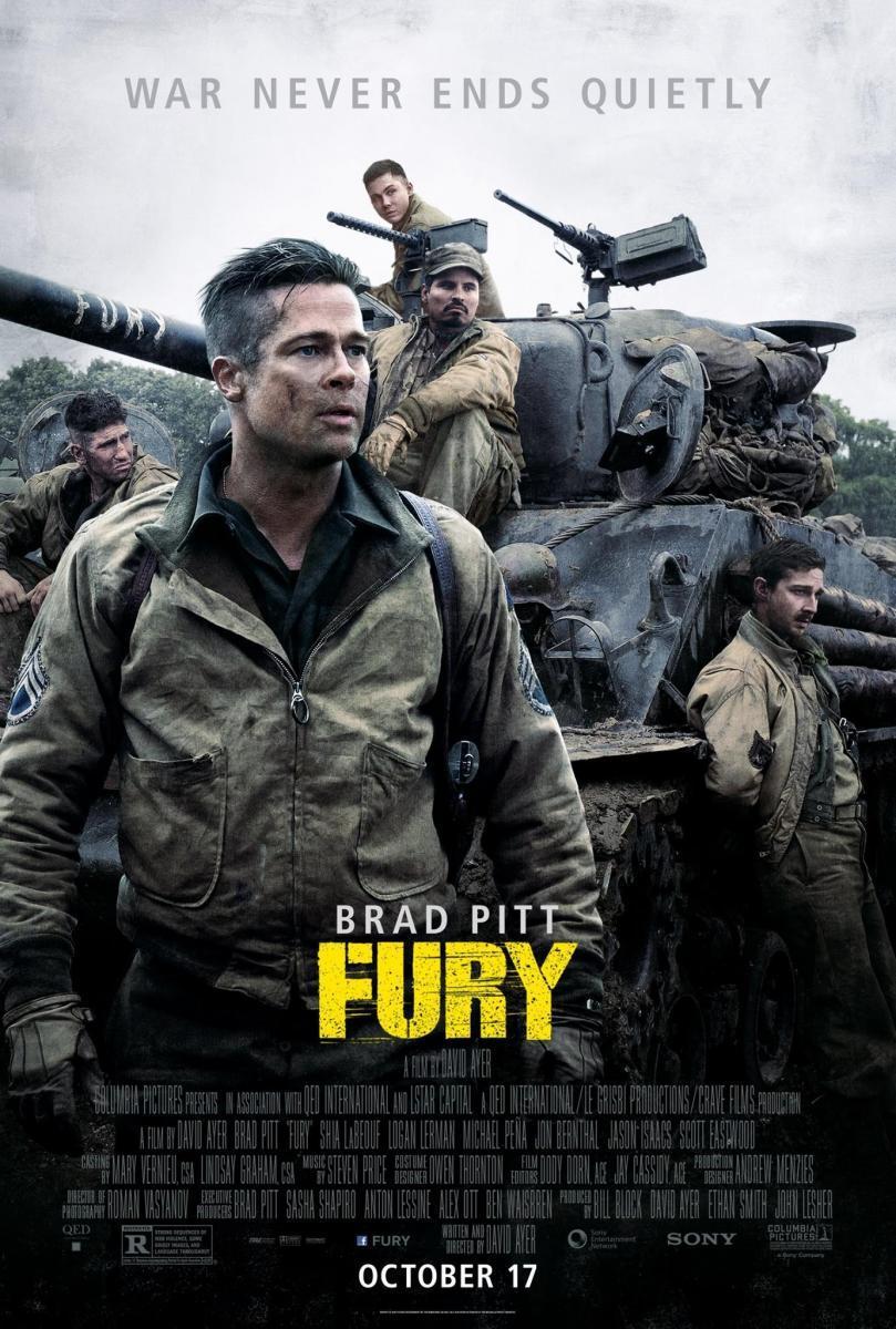 Download Fury (2014) Full Movie in Hindi Dual Audio BluRay 720p [1GB]