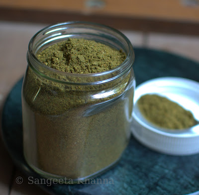 Curry patta powder or karuveppilai podi