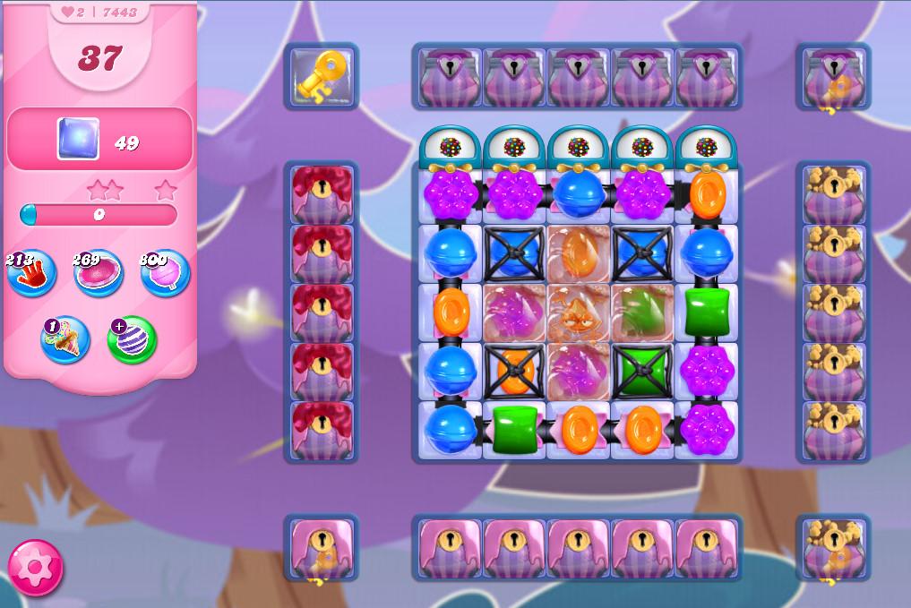 Candy Crush Saga level 7443