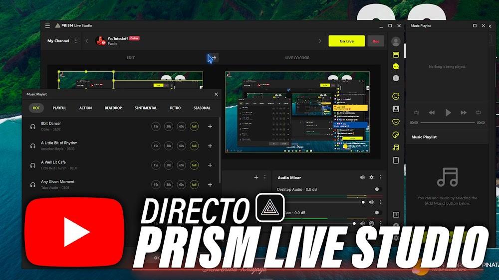 Hacer un Directo con PRISM Live Studio en YOUTUBE