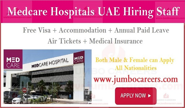 Show the details of hospital jobs Dubai, Current vacancies in Gulf countries,