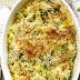 Zapiekanka makaronowa z brokułem, mozzarellą i orzechami
