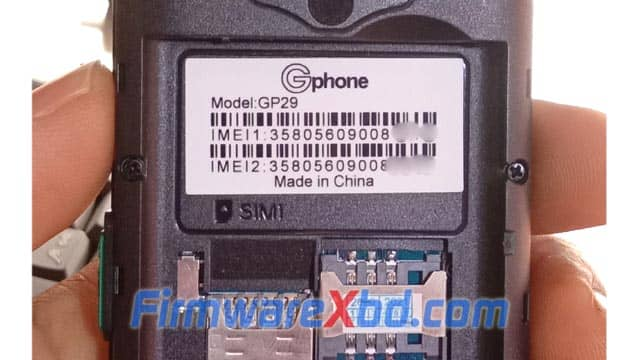 Gphone GP29 Flash File MT6261 Download